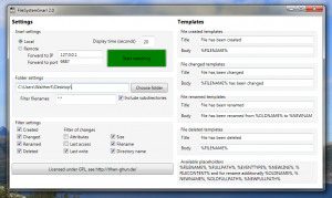 The main window of FileSystemSnarl 2.0